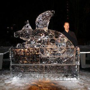 Eisskulptur eisschnitzen eis design Leinup agentur münchen 25
