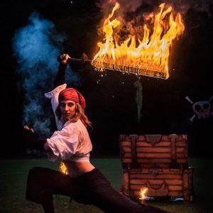 Feuershow muenchen agentur hochzeit service lein up_pirat