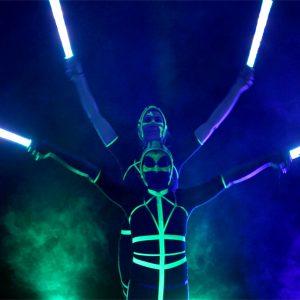 LED Show event hochzeit casino_Pixel poi Shiva
