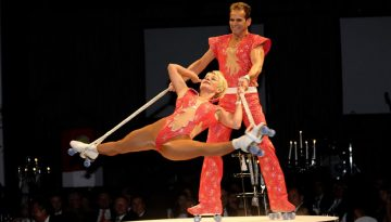 Rollerskate Akrobatik bei Leinup Agentur muenchen 2022
