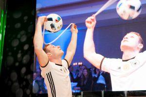 Fussball Jongleur bei leinup agentur münchen bilder 007