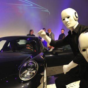 Pantomieme Porsche leinup agentur