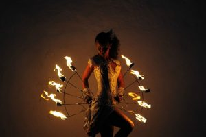 Feuer Jonglage Show Bilder 02