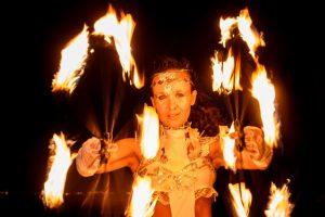 Feuer Jonglage Show Bilder 07