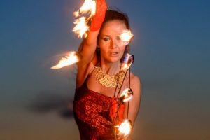 Feuer Jonglage Show Bilder 08