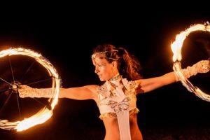 Feuer Jonglage Show Bilder 13