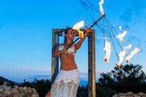 Feuer Jonglage Show Bilder 17