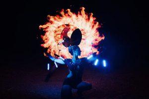 Feuer Jonglage Show Bilder 18